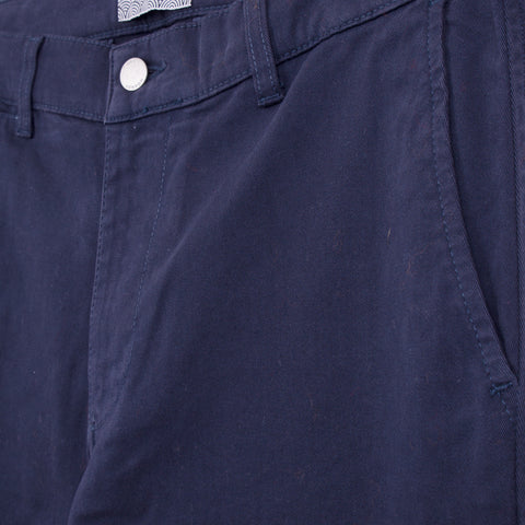 WAX STROOD TROUSER - NAVY