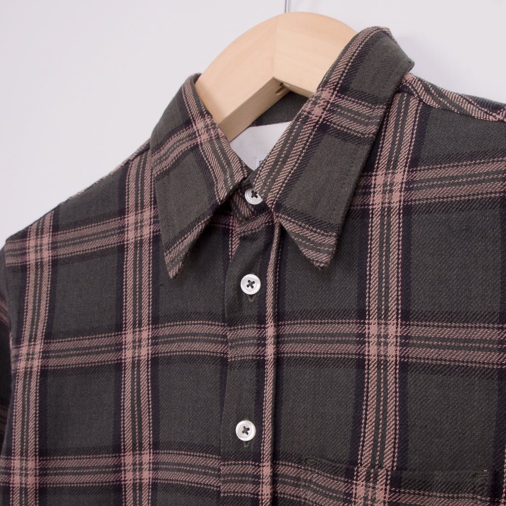 UNIVERSAL WORKS BROOK SHIRT - TAUPE REBEL CHECK