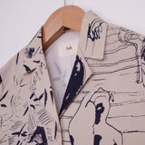 FOLK L/S SOFT COLLAR SHIRT - CHARM PRINT