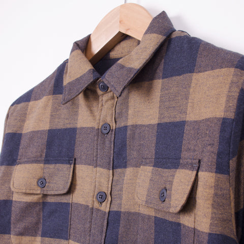 KESTIN HARE HASTON SHIRT JACKET - TOBACCO/NAVY