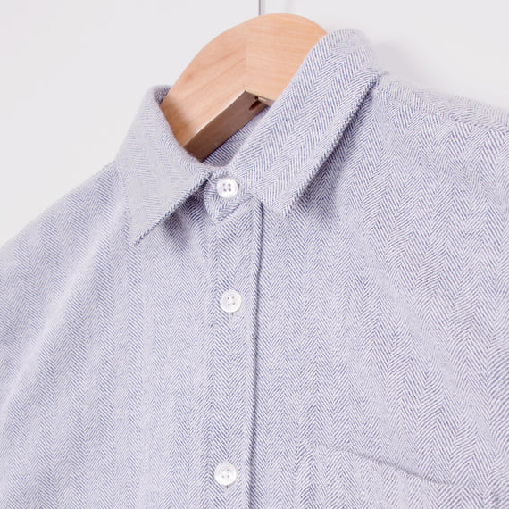 PORTUGUESE FLANNEL ESPIGA SHIRT - LIGHT GREY