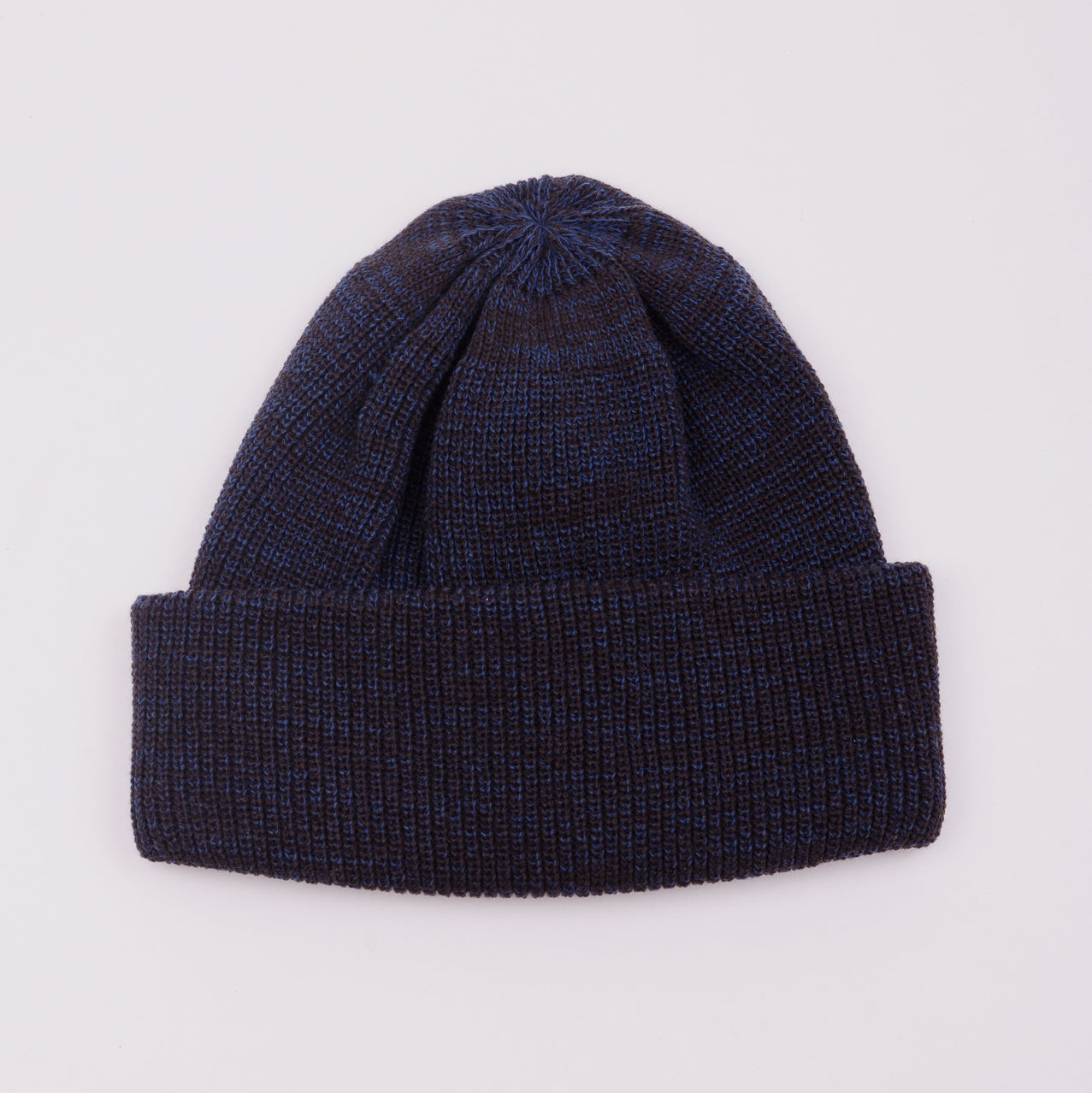 ROTOTO BULKY WATCH CAP - CHARCOAL / BLUE