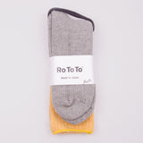 ROTOTO TEASEL SOCKS - GOLD / LIGHT GREY