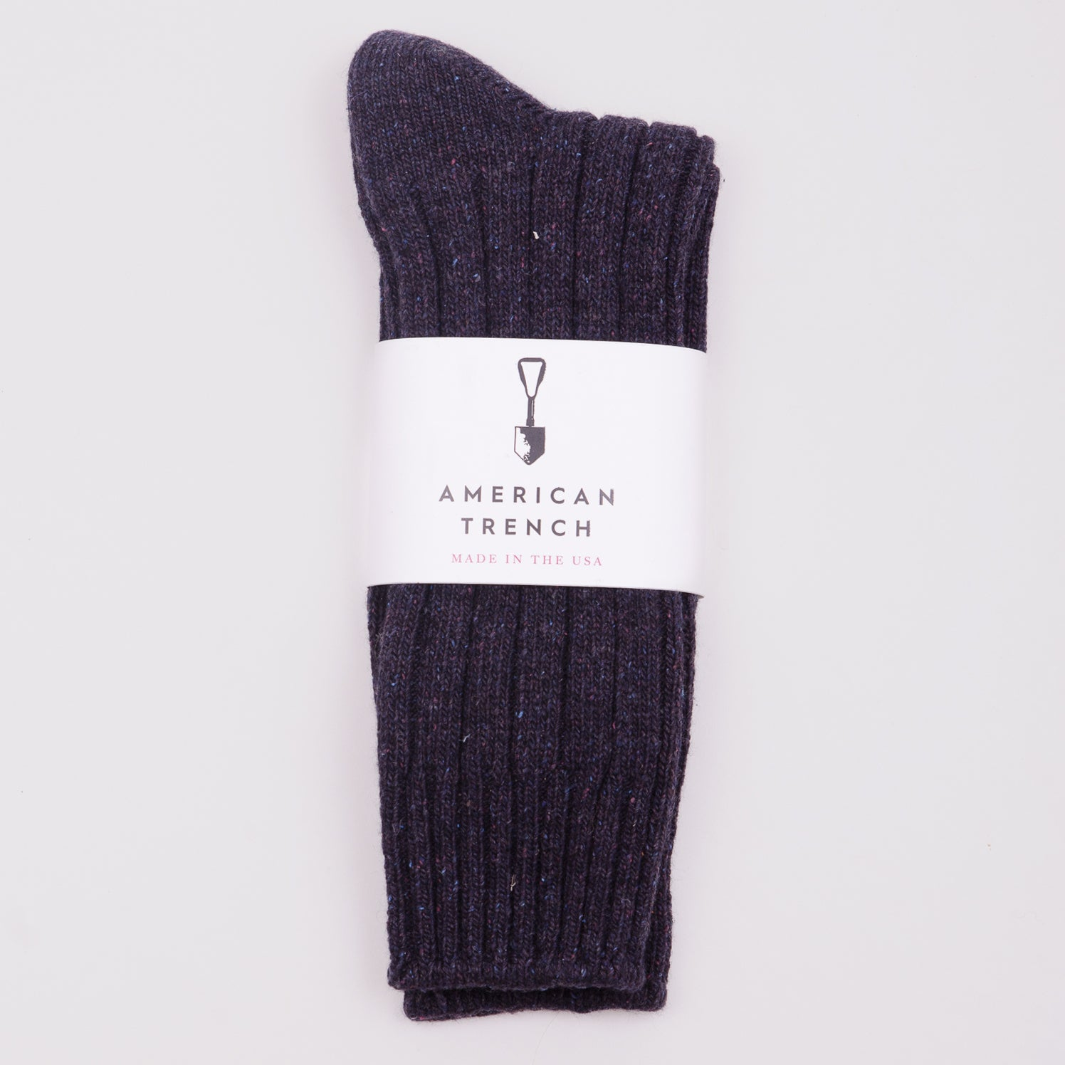 AMERICAN TRENCH WOOL AND SILK BOOT SOCKS - BLACK CHERRY