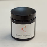 RUSKIN NATURAL PLANT WAX CANDLE- BLACK POMEGRANATE
