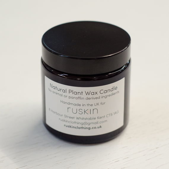 RUSKIN NATURAL PLANT WAX CANDLE- ALOE, STRAW & CUCUMBER