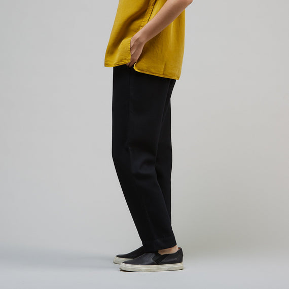 FOLK DRAWCORD SIGNAL PANT - BLACK