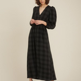 Storm & Marie Bess Puff Dress Black Check