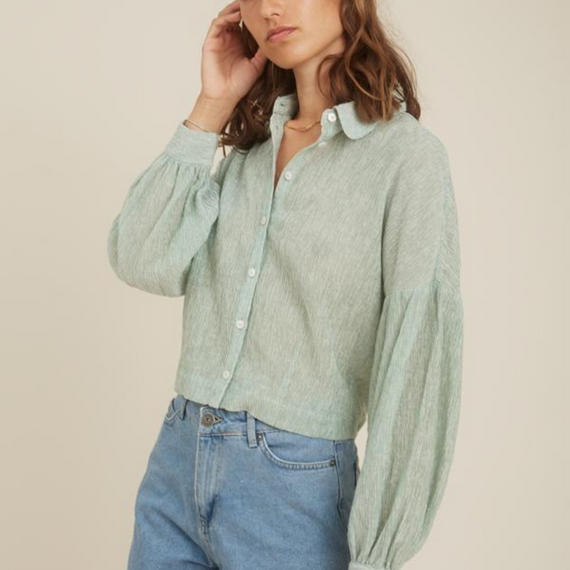 Storm & Marie Theresa Shirt Quiet Green