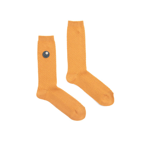 FOLK WOMEN'S WAFFLE SOCKS - GOLDEN YELLOW