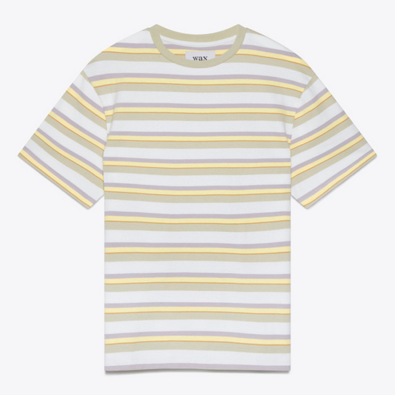 Wax Dean Tee Heavy Organic Cotton Naples Stripe