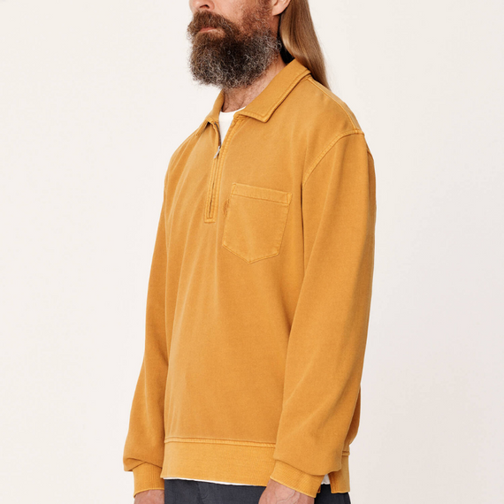 YMC Sugden Zip Sweatshirt Yellow