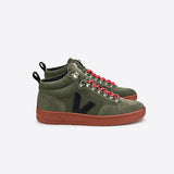 VEJA MEN'S RORAIMA SUEDE OLIVE BLACK RUST SOLE