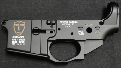 SPIKES TACTICAL CRUSADER LOWER RECEIVER (COLOR FILLED FDE)
