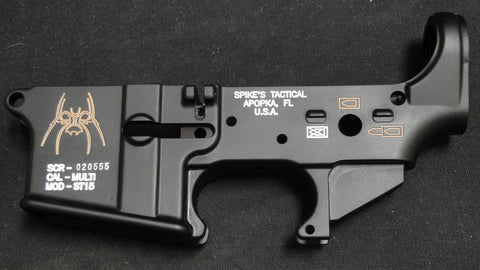 SPIKES TACTICAL SPIDER LOWER RECEIVER (COLOR FILLED FDE)