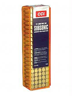 Cci 22 Subsonic 40 Grain Weight Hp 100-5000
