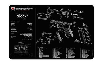 Tekmat Pistol Mat For Glk Gen 4 Black