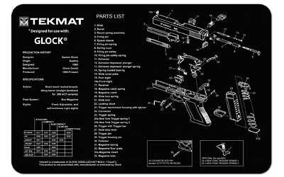 Tekmat Pistol Mat For Glock Black