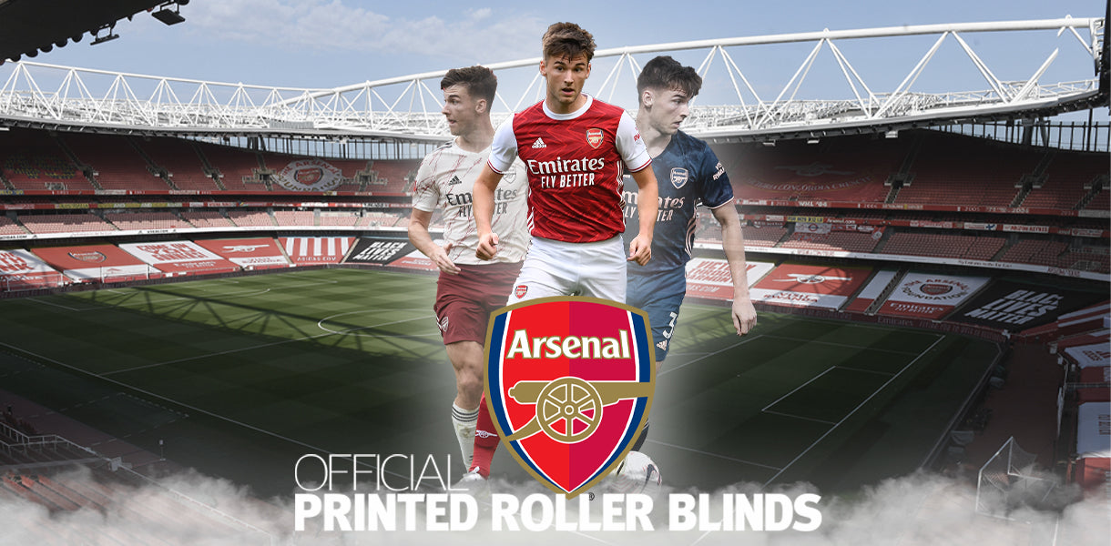 arsenal football roller blinds and curtains