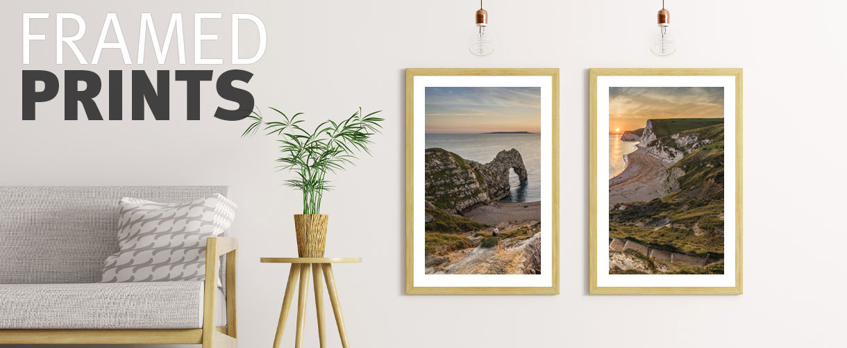 Framed mounted prints of beautiful images and scenes