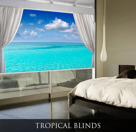 Tropical Picture Roller Blinds