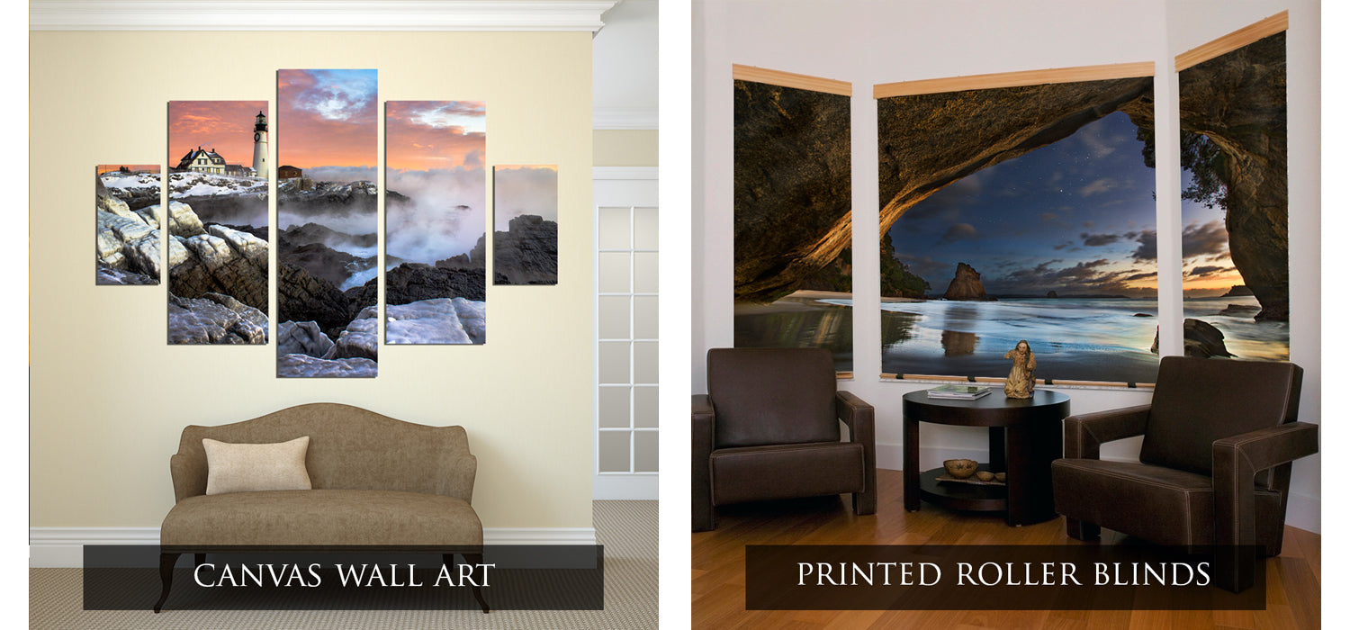 canvas wall art prints and photo roller blinds
