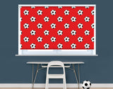 Red & White Football Pattern Image Printed Picture Photo Roller Blind - RB943