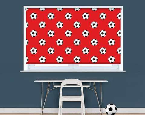 Manchester Red Football Pattern Image Printed Picture Photo Roller Blind - RB943