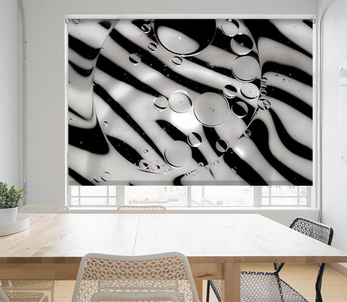 Zebra Pattern Animal Print Printed Picture Photo Roller Blind - RB674