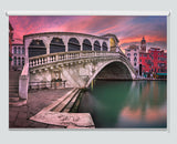 Rialto Bridge And San Bartolomeo Church At Sunrise, Venice Printed Picture Roller Blind - RB996