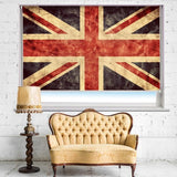Abstract Grunge Union Jack Printed Picture Photo Roller Blind - RB657 - Art Fever