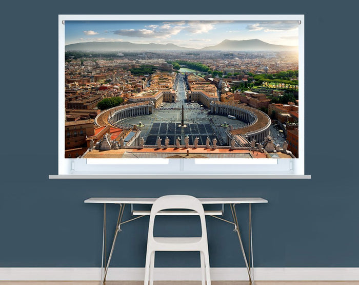 Aerial view on Vatican and piazza, Italy Image Printed Roller Blind - RB970 - Art Fever - Art Fever