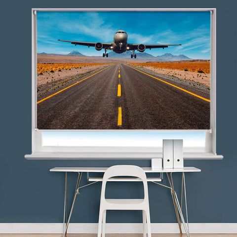 Aeroplane Flying Low Image Printed Roller Blind - RB838 - Art Fever