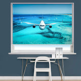 Aeroplane Flying Over Islands Image Printed Roller Blind - RB839 - Art Fever