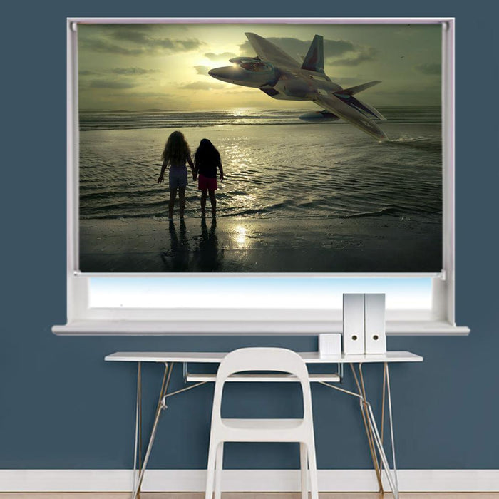 amazing beach scene printed photo picture roller blind RB716 - Art Fever