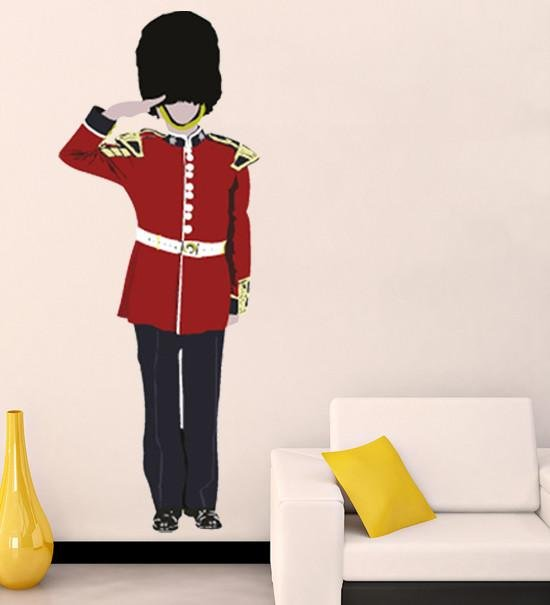 ATW - Large london guard saluting removable wall sticker - Art Fever