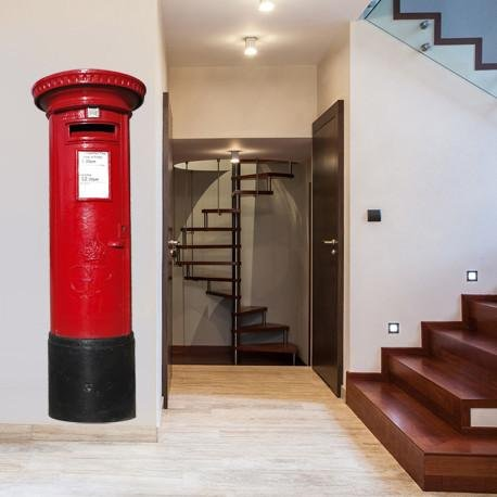 ATWS21 - LARGE RED BRITISH LETTER BOX DECAL REMOVABLE WALL STICKER - Art Fever
