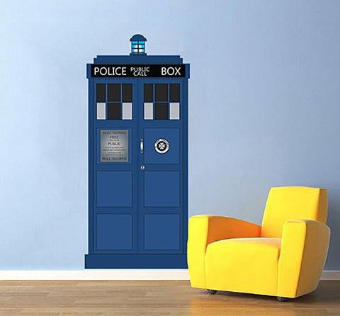 ATWS21 - Time Travelling Police Public Call Box Wall Sticker - Art Fever