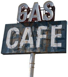ATWS27 - US GAS STATION ROAD SIGN PHOTO WALL STICKER - Art Fever