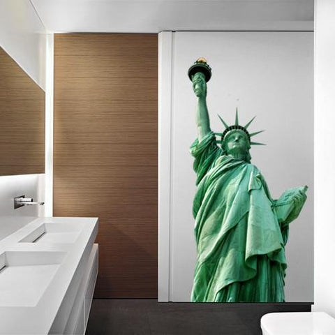 ATWS30 - REMOVABLE STATUE OF LIBERTY PHOTO WALL STICKER - Art Fever