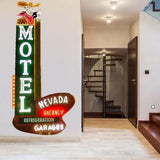 ATWS36 - NEVADA MOTEL STREET SIGN PHOTO WALL STICKER - Art Fever - Art Fever