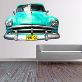 ATWS40 - CUBAN TAXI IN BLUE REMOVABLE PHOTO WALL STICKER - Art Fever - Art Fever