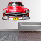 ATWS41 - CUBAN TAXI IN RED PHOTO WALL STICKER - Art Fever - Art Fever