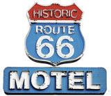 ATWS44 - ROUTE 66 MOTEL SIGN REMOVABLE WALL STICKER - Art Fever - Art Fever