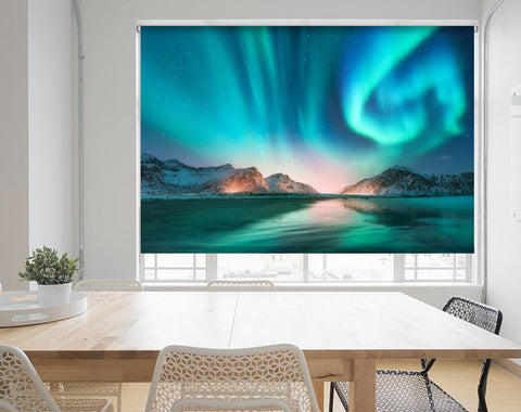 Aurora borealis Norway Northern Lights Image Printed Roller Blind - RB968 - Art Fever - Art Fever