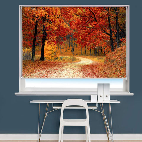 Autumn Fall Scene Image Printed Roller Blind - RB833 - Art Fever - Art Fever