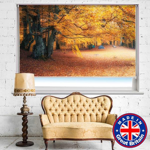 Autumn woodland scene Printed Picture Photo Roller Blind - RB668 - Art Fever - Art Fever