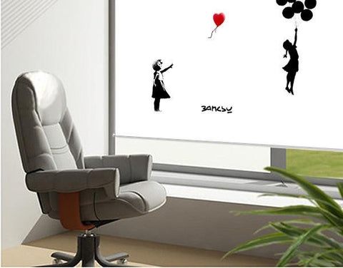 Banksy balloon girls Printed Graffiti Picture Photo Roller Blind - RB123 - Art Fever - Art Fever