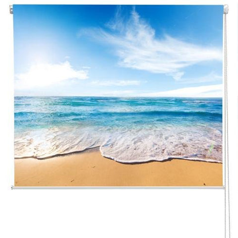 Beach and sea tropical Scene Printed Photo Picture Roller Blind - RB53 - Art Fever - Art Fever