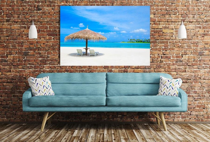 Beach Scene Image Printed Onto A Single Panel Canvas - SPC74 - Art Fever - Art Fever
